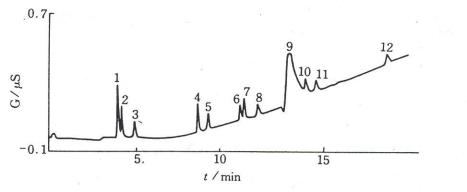 离子色谱分离度的改善