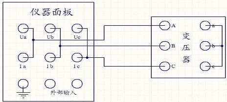 三相测量接线示意图