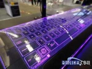 具有科幻色彩的玻璃键盘亮相CES 2013